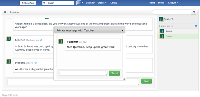 Backchannel Chat for Edmodo - Private messaging