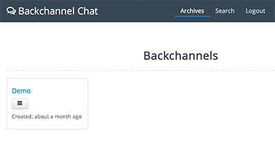 Student Access to Backchannels